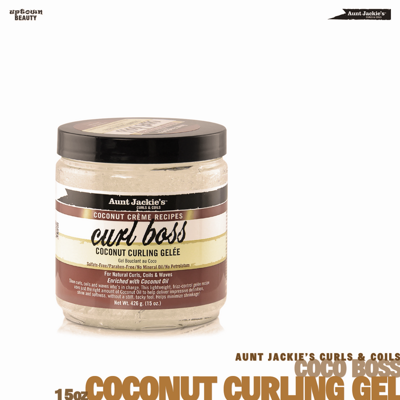 AUNT JACKIE'S CURLS & COILS Coco Curl Boss Coconut Curling Gel 15oz