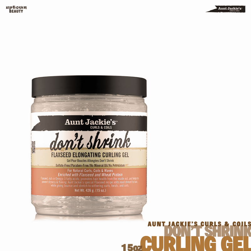 AUNT JACKIE'S CURLS & COILS Don't Shrink Flaxseed Elongating Curling Gel 15oz
