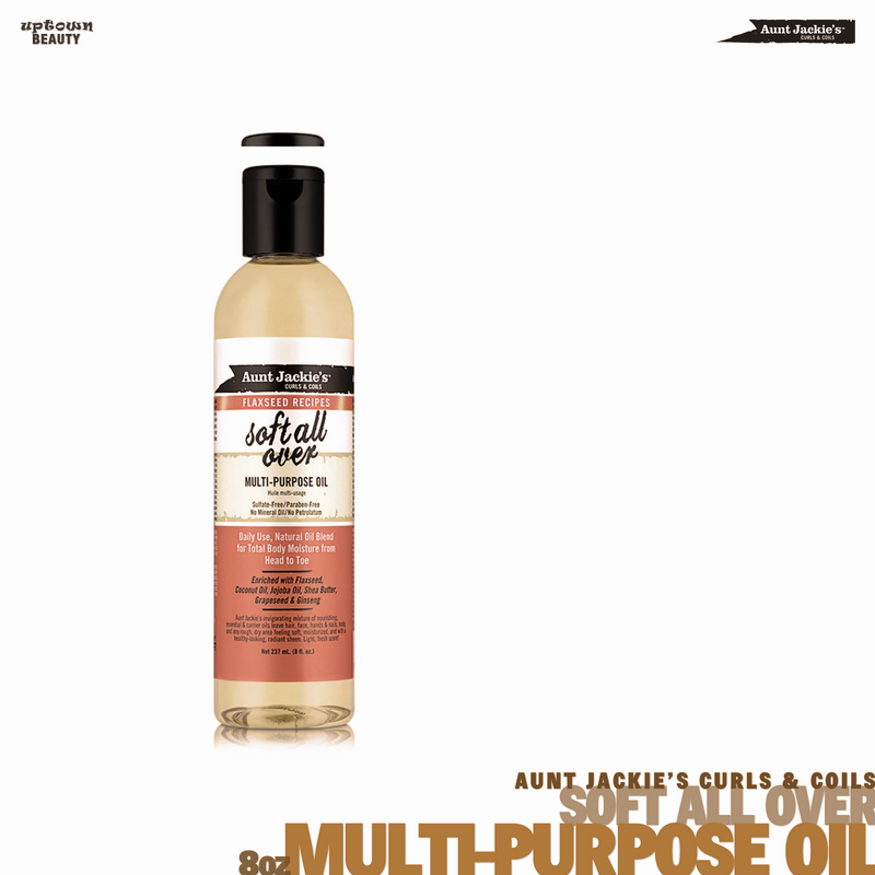 AUNT JACKIE'S CURLS & COILS Soft All Over Multi-Purpose Oil 8oz