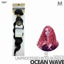 Bobbi Boss Unprocessed Virgin Human Hair Bundle Weave BOSS BUNDLE # Ocean Wave #12 inches