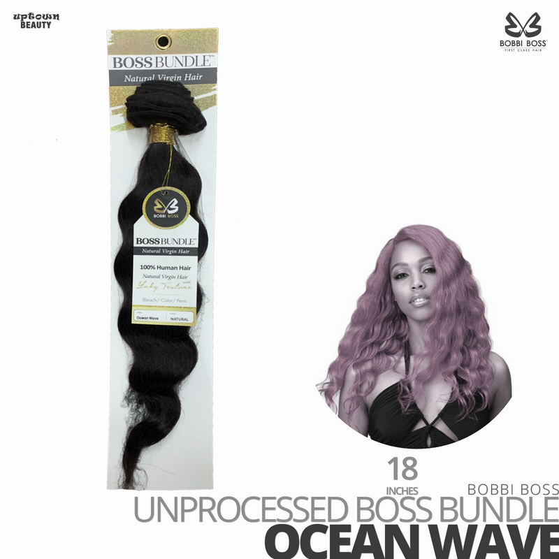 Bobbi Boss Unprocessed Virgin Human Hair Bundle Weave BOSS BUNDLE # Ocean Wave #18 inches