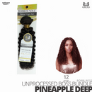 Bobbi Boss Unprocessed Virgin Human Hair Bundle Weave BOSS BUNDLE # Pineapple Deep #12 inches