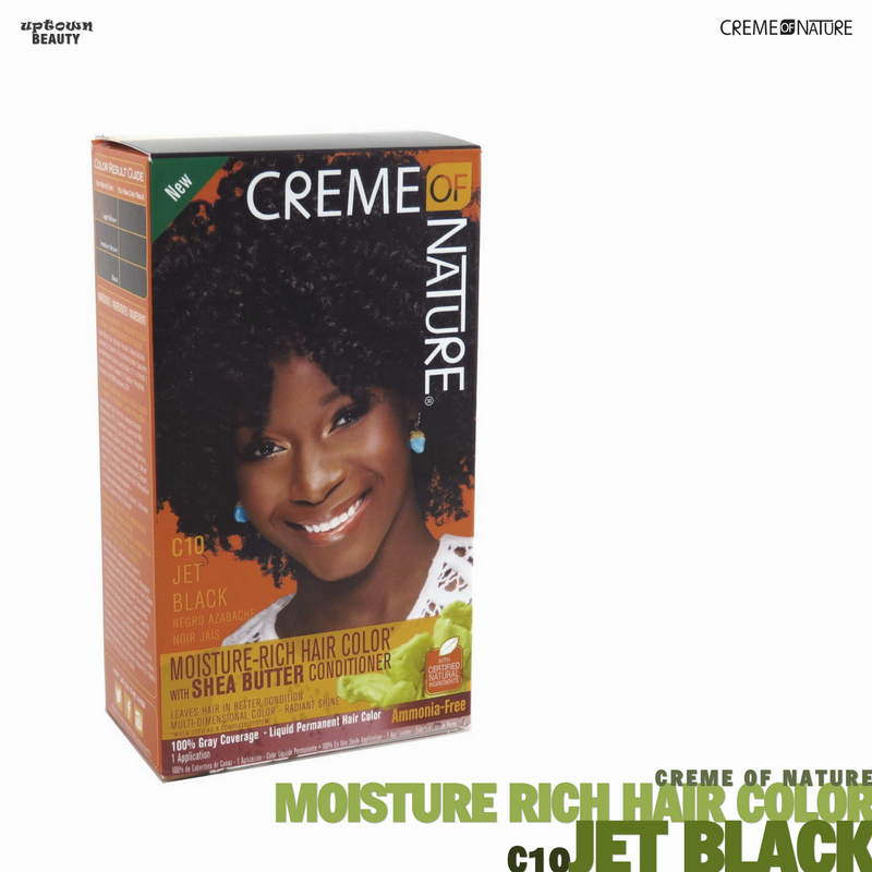 Creme Of Nature Moisture Rich Hair Color - C10 Jet Black