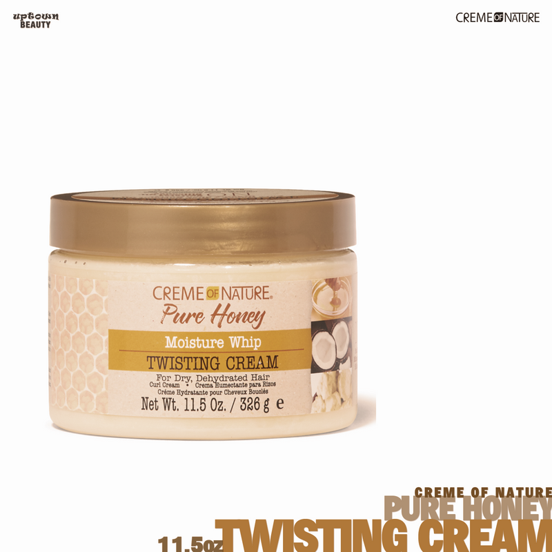 Creme Of Nature Pure Honey Twisting Cream 11.5 Ounce Jar (340ml)