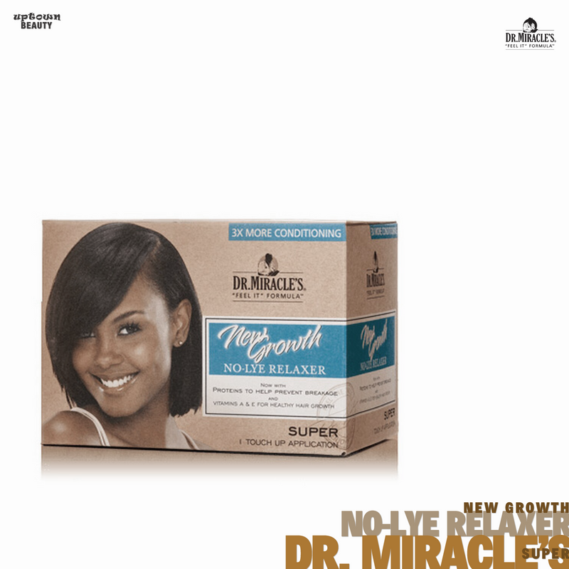 Dr. Miracle's New Growth No-Lye Relaxer Kit, Super