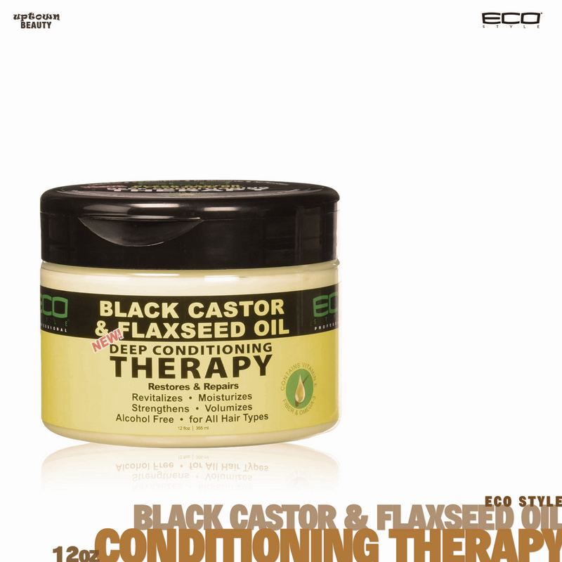 Eco Style Black Castor and Flaxseed Oil Deep Conditioning Therapy 12oz