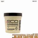 Eco Style Professional Black Castor & Flaxseed Oil Gel. 8oz