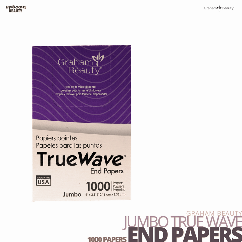 GRAHAM BEAUTY Jumbo True Wave End Papers 1000 papers 4 x 2.5 inches