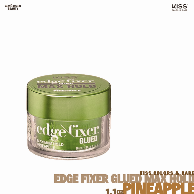 KISS Edge Fixer Glued Maximum Hold Pineapple 1oz