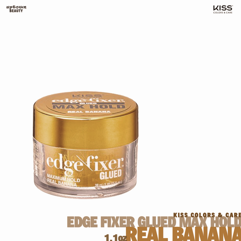 KISS Edge Fixer Glued Maximum Hold Real Banana 1oz