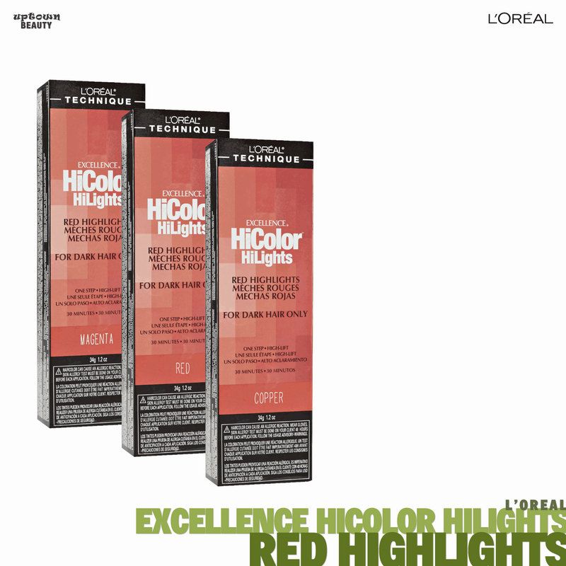 L'Oreal Excellence HiColor Highlights Red Highlights for Dark Hair Only 1.2oz