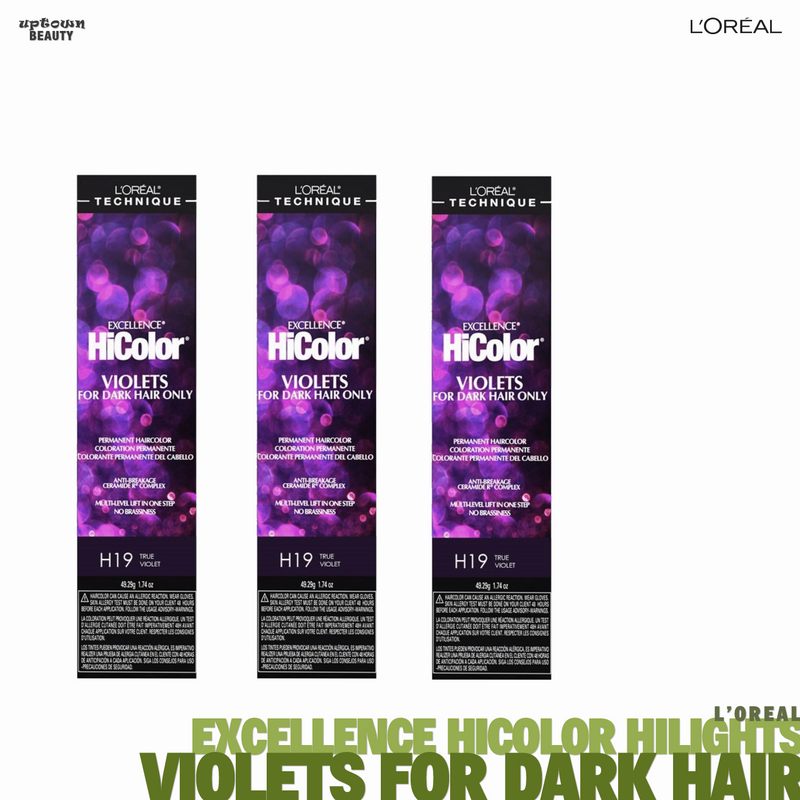 L'Oreal Excellence HiColor Highlights VIOLETS for Dark Hair Only 1.74oz