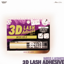 Miss Lashes 3D Volume False Eyelash - 3D Lash Adhesive Mega Hold(Black)