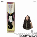 OUTRE 100% Remy Human Weave Hair VELVET Brazilian # Body Wave #10 inches