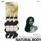 OUTRE Human Bundle- My Tresses Gold Label -# Natural Body 16-18-20. inches