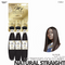 OUTRE Human Bundle- My Tresses Gold Label -# Natural Straight 16-18-20 inches