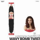 OUTRE Synthetic Crochet Hair Braids  X-PRESSION Twisted-Up #Wavy Bomb Twist #18 inches