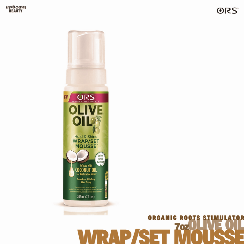 Organic Root Stimulator Oilive Oil Wrap/Set Mousse 7oz