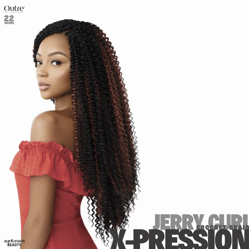 Outre Crochet Braids X-pression Twisted Up Passion Jerry Curl 22 inches