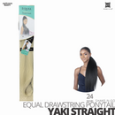 SHAKE-N-GO FreeTress Equal Drawstring Ponytail # Yaki Straight # 24 inches
