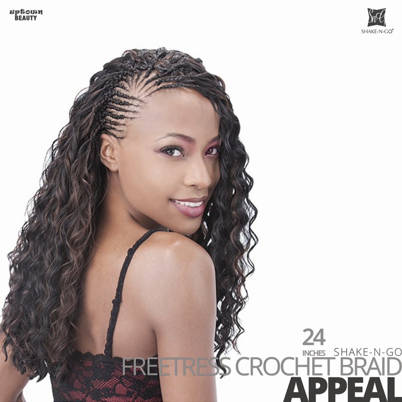 SHAKE-N-GO Freetress Synthetic Hair Crochet BRAID #Appeal #24 inches