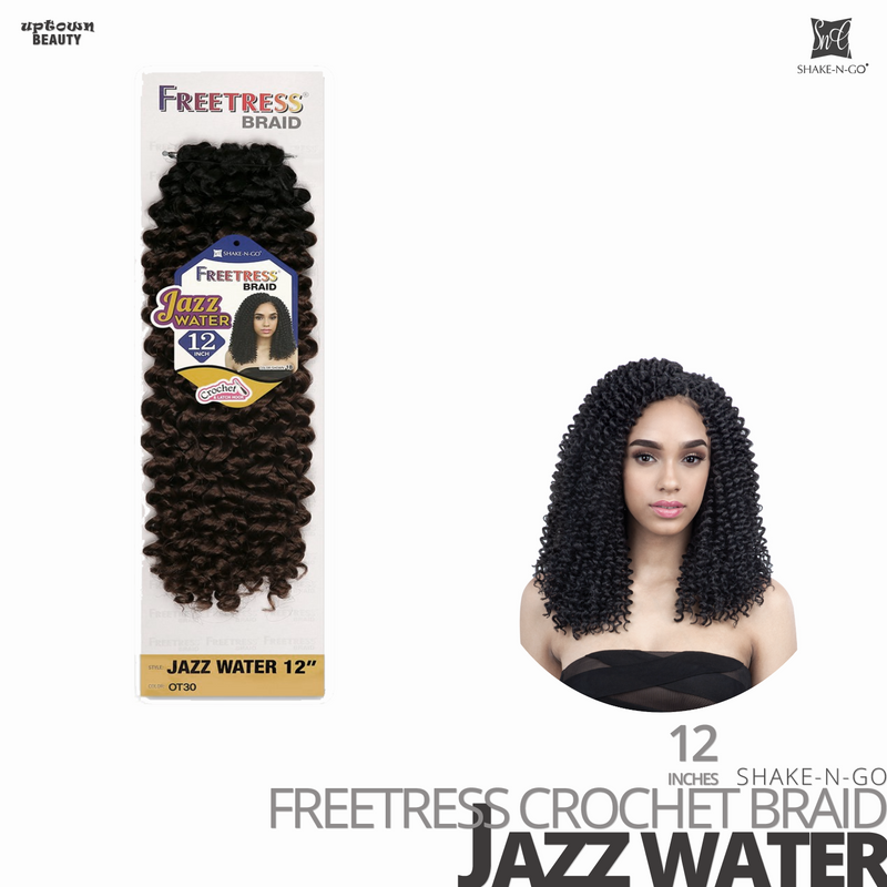 SHAKE-N-GO Freetress Synthetic Hair Crochet BRAID #Jazz Water #12 inches