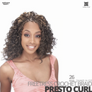 SHAKE-N-GO Freetress Synthetic Hair Crochet BRAID #Presto Curl #26 inches