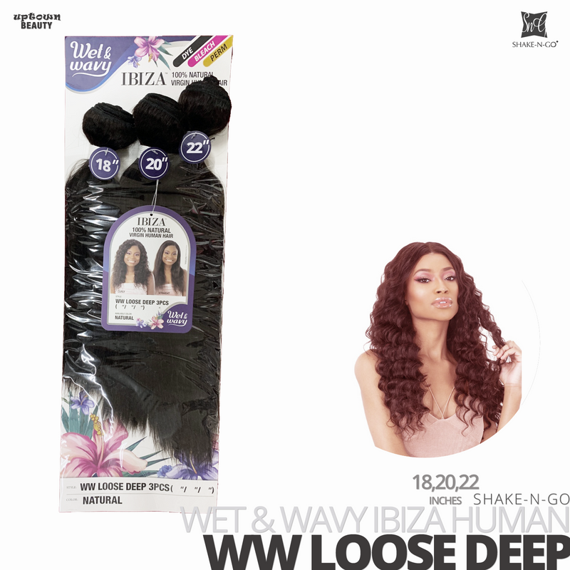 SHAKE-N-GO Wet & Wavy IBIZA  Bundle Weave 3PCS
