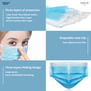 [FDA APPROVED] Disposable Face Masks 3 Layers (5 masks in the pack)