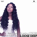 Sensationnel Bare&Natural Bundle Pack Virgin Human Hair #Loose Deep #16.16.18.18.20.20 inches with Closure