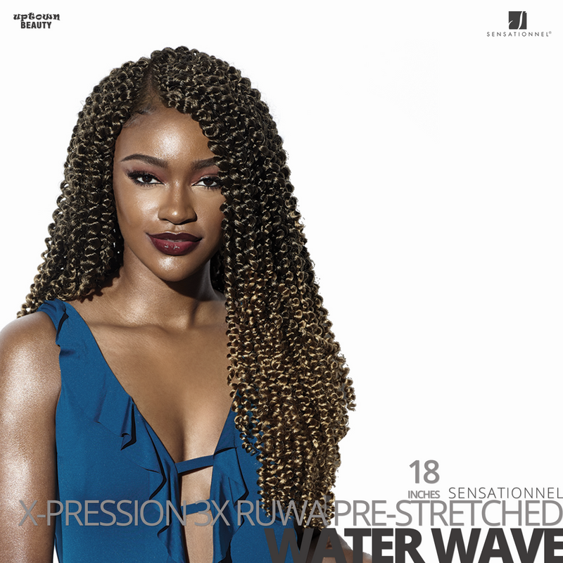 Sensationnel X-PRESSION 3X Ruwa Pre-Stretched Braids #Water Wave #18 inches