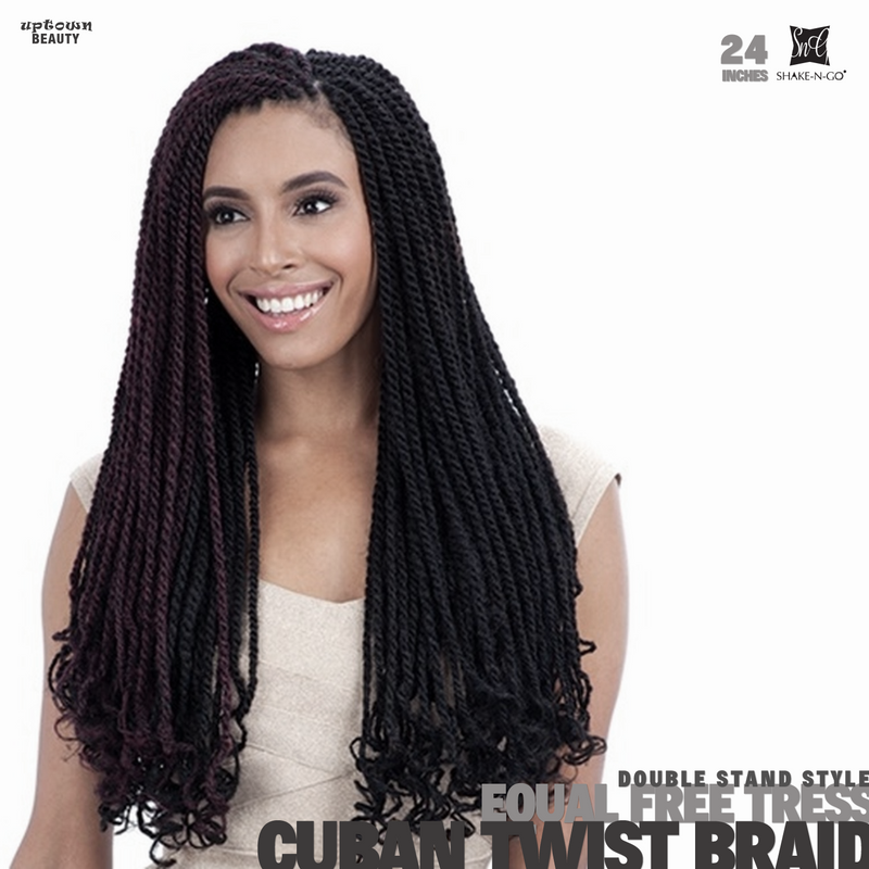 Shake n Go FreeTress Equal Braids Double Strand Style Cuban Twist 24 inch