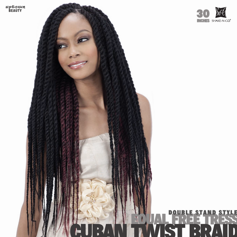 Shake n Go FreeTress Equal Braids Double Strand Style Cuban Twist 30 inch