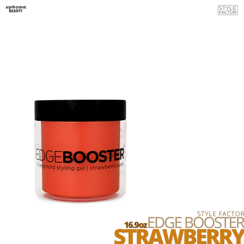 Style Factor Edge Booster Strong Hold Water-Based Pomade # 16.9oz # Strawberry