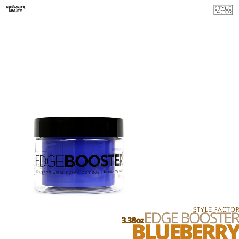 Style Factor Edge Booster Strong Hold Water-Based Pomade # 3.38oz # Blueberry