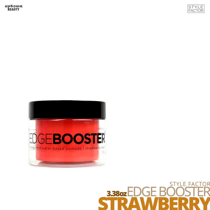 Style Factor Edge Booster Strong Hold Water-Based Pomade # 3.38oz # STRAWBERRY