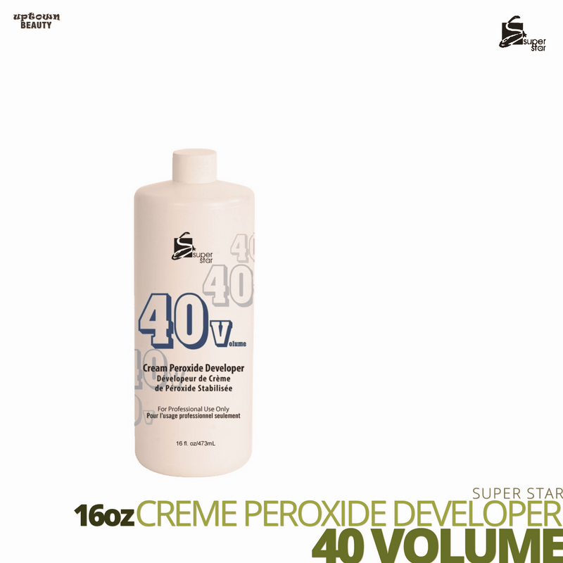 Super Star Cream Peroxide Developer Bleach # 40 volume # 16oz