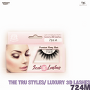 TRS THE TRUE STYLES- Luxury 3D Lashes - 724M