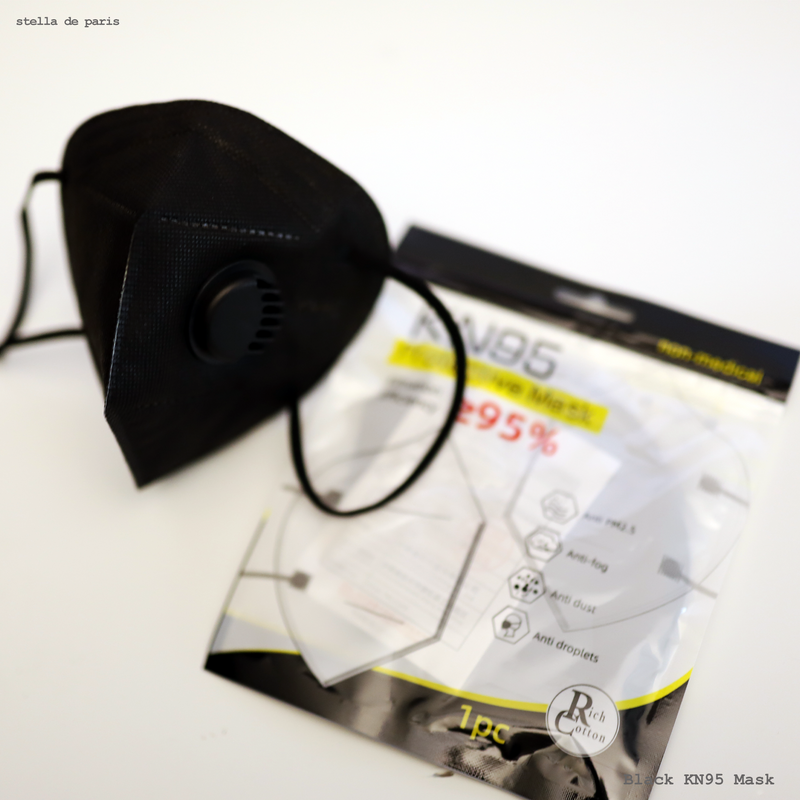 KN95 Black face mask [FDA APPROVED]