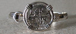 Atocha Coin Bracelet with silver band 2
