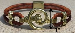 #210 Hurricane Bracelet Leather 14k Band Gold