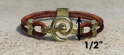#212a Hurricane Bracelet Leather Band 14k Gold