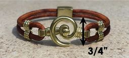 #211 Hurricane Bracelet Leather Band 14k Gold