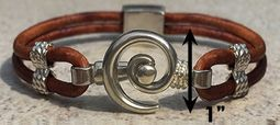 #216 Hurricane Bracelet Leather Band Sterling Silver