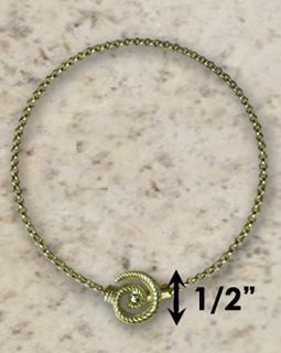 #318 Hurricane Anklet twisted 14k Gold