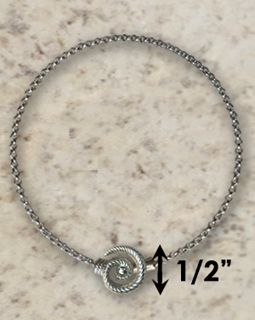 #320 Hurricane Anklet twisted Sterling Silver