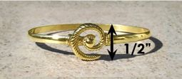 #308 Hurricane Bracelet twisted 14k Gold