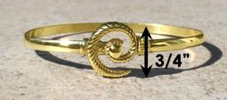 #307 Hurricane Bracelet twisted 14k Gold