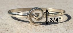 #301 Hurricane Bracelet twisted Sterling Silver