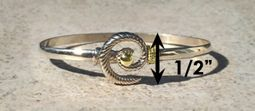 #305 Hurricane Bracelet twisted Sterling Silver 14k Gold